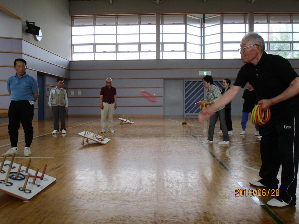 【いきいき学級「輪投げ大会」】開催しました。:画像