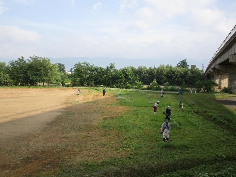 豊田地区【白川グラウンド整備】行いました。:画像
