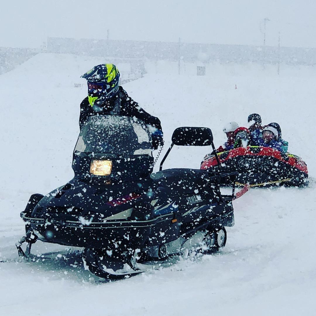 豊田地区【冬の白川雪あそびでボート初使用】で楽しみました。