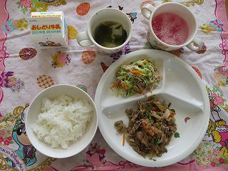 6月8日 給食参観日(年長組)