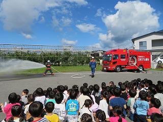 9月28日 避難訓練(放水活動)/