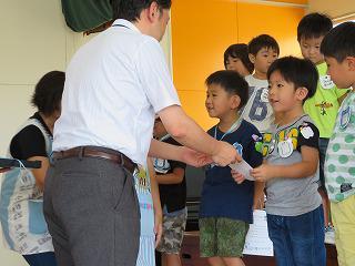 8月23日 5歳児ピカピカ歯ぴ〇賞の表彰式