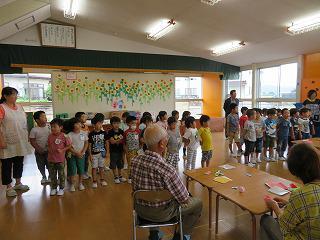 9月3日 若松会と年長児の交流会/