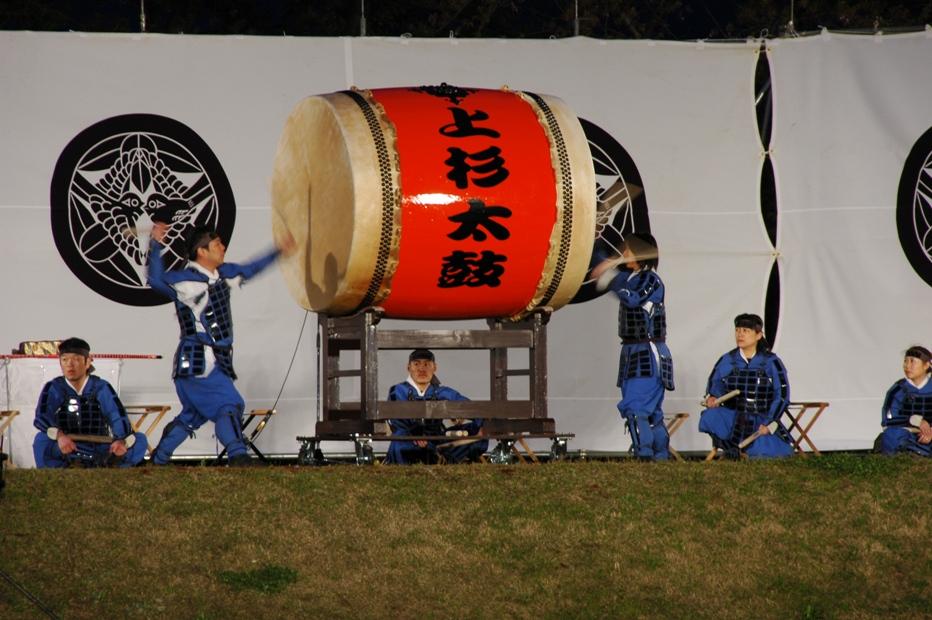 上杉太鼓の勇壮な響きにご注目ください:画像