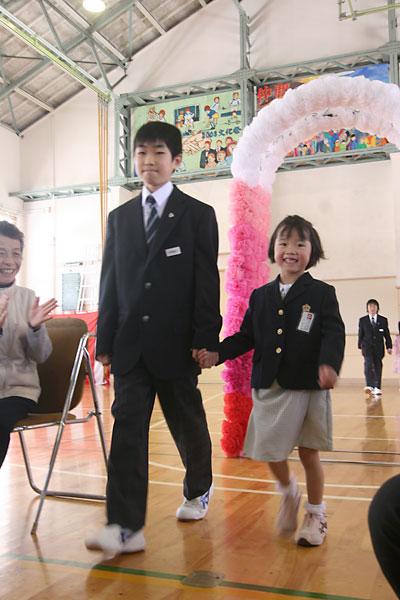 玉庭小中学校入学式