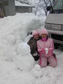 雪だるま家族