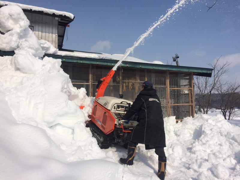 除雪機は大事!
