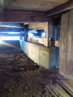 2009/12/20 18:31/村山市【父母報恩寺/耐震リフォーム】基礎工事完成です!