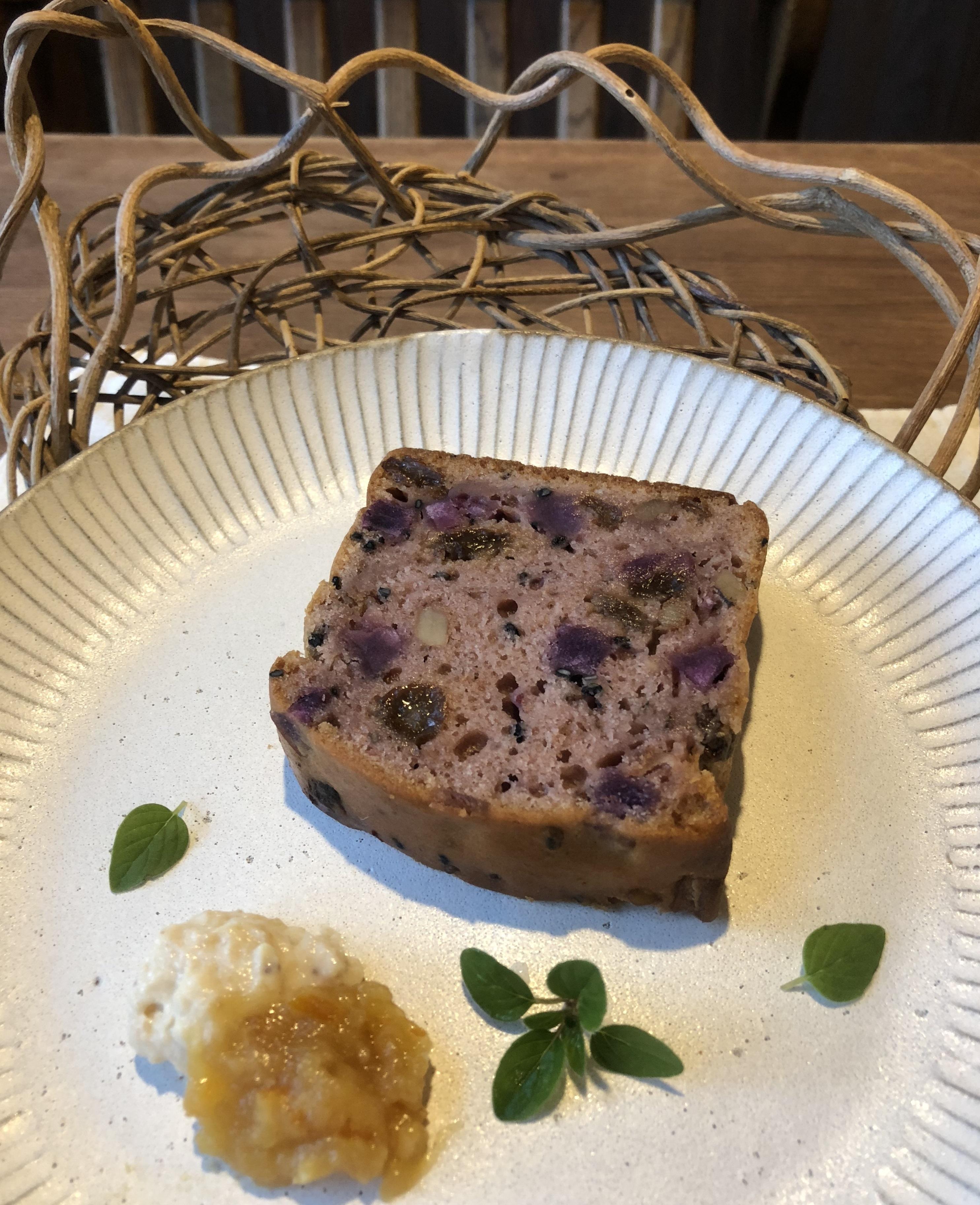伊藤農園の紫芋でパウンドケーキを作りました:画像