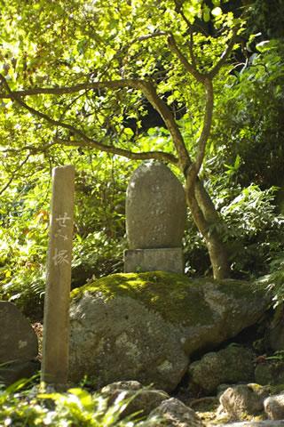 山寺の参道~せみ塚「閑さや岩にしみ入る蝉の声」