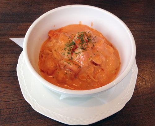 レストランIBIZA《フレッシュトマト海老のチーズスパゲッティ》上山市美咲町:画像