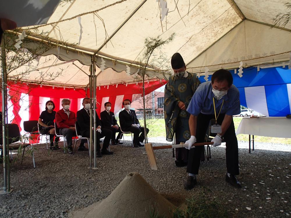 豊実精工株式会社の地鎮祭が行われました:画像