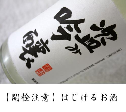 【生産終了しました・完売御礼】米鶴 盗み吟醸 発泡にごり生:画像