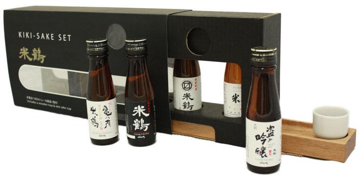 【ギフトにおすすめ】米鶴 きき酒セット:画像
