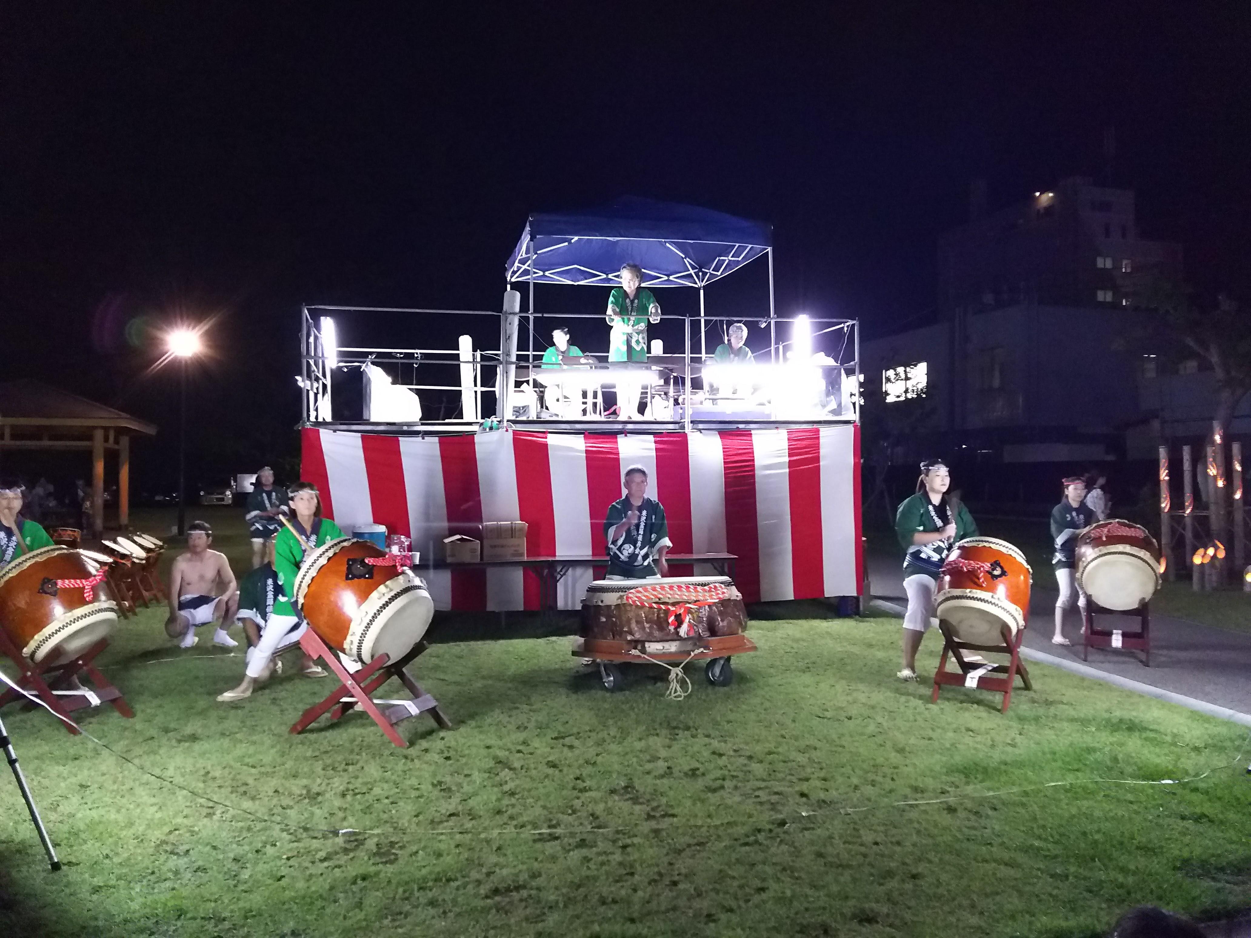 米沢の夏祭り(盆踊り・灯籠流し):画像