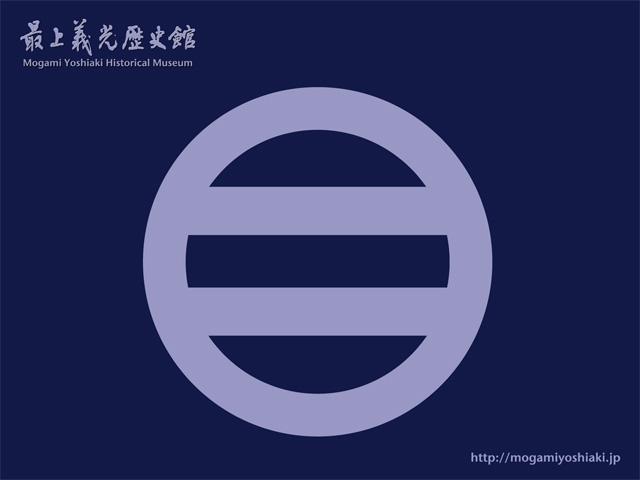 「【壁紙】家紋 丸に引両(紺バージョン)」の画像
