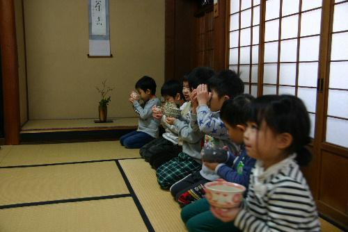 久しぶりの青空 臨雲文庫では赤湯幼稚園のお茶教室 美味しかったなぁ~。