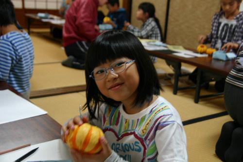 プッチーニのかぼちゃでランタンづくり 10月の土曜自由塾
