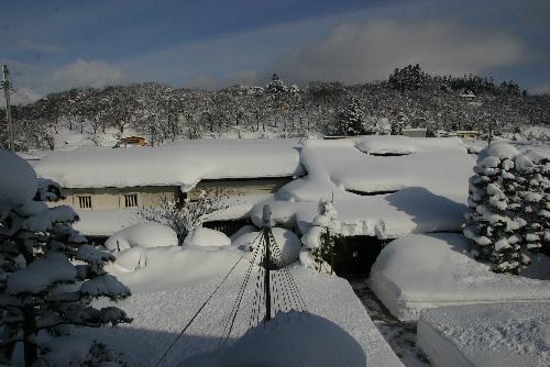 すごい雪です。臨雲文庫がすっぽり雪に覆われました