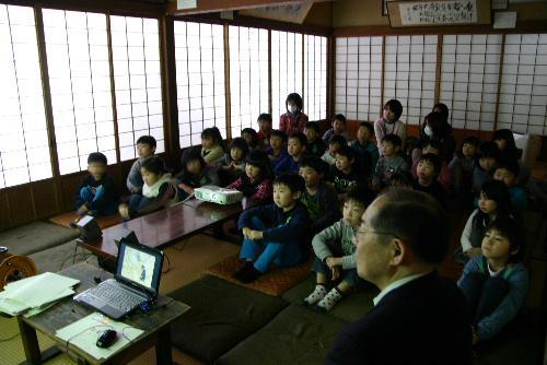 赤湯幼稚園の就学前の論語教室