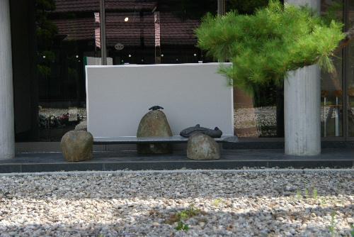 かわいい2セットの生きものの石の彫刻/