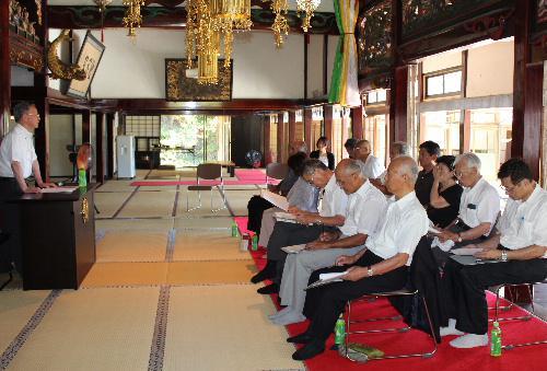 赤湯を拓いた横田式部 結城翁の命日8月1日に墓参と記念講話