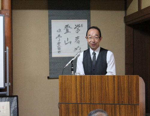 文化講座で「学者如登山」「舌上有龍泉」 三上英司教授の解説