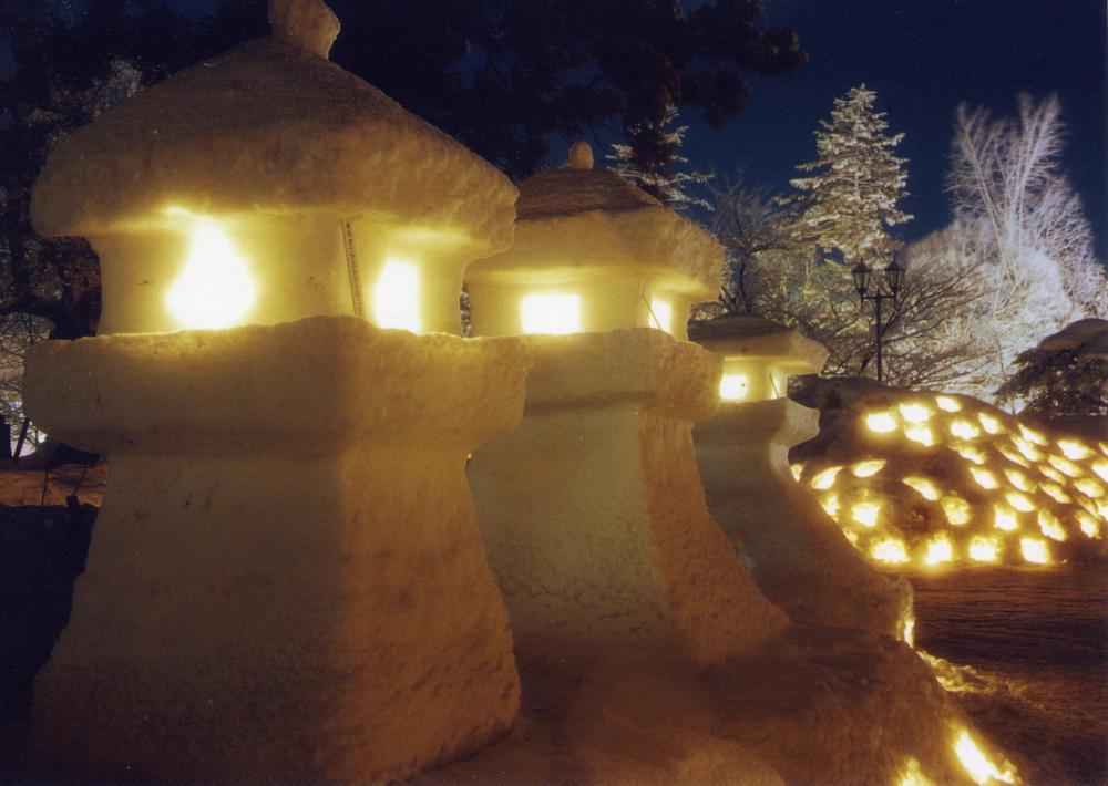 YBCラジオゲツキンラジオぱんぱかぱーん 上杉雪灯篭まつりスペシャル放送:画像
