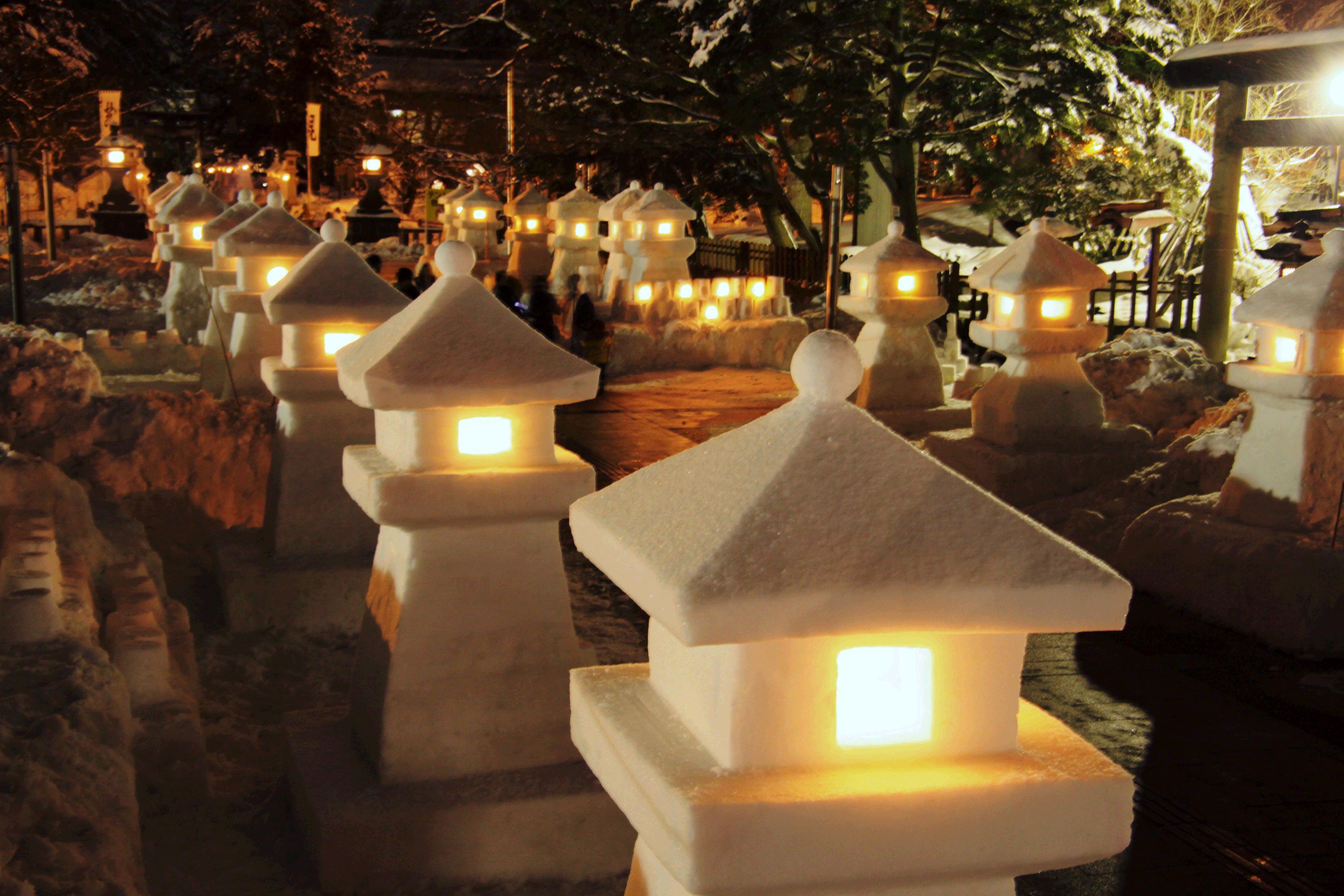 第44回「上杉雪灯篭まつり」の開催について:画像