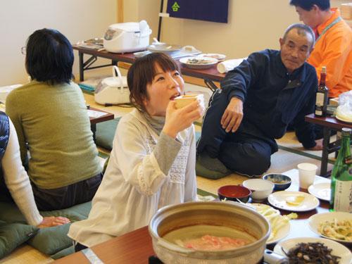 雪菜組合婦人部のお手製料理
